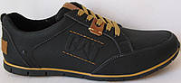 Стильные осенние мужские кожаные туфли в стиле CAT ( Caterpillаr)