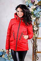 Женская куртка POLINA Сезон весна - осень 2018 цвет Красный