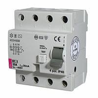 Реле дифференциальное (УЗО) EFI-4 25/0,03 тип AC (10kA)