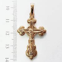 Крестик  xuping золото 18к  длина 4.2см к282