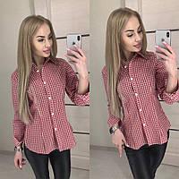 Женская летняя рубашка из хлопка
