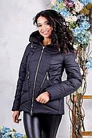 Женская куртка POLINA Сезон весна - осень 2018 цвет Черный