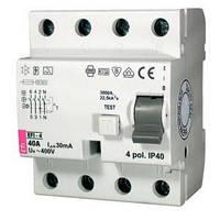 Реле дифференциальное (УЗО) EFI-4 40/0,03 тип AC (10kA)