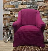 Чехлы для мебели на диван и 2 кресла без юбки Altinkoza, цвет фуксия