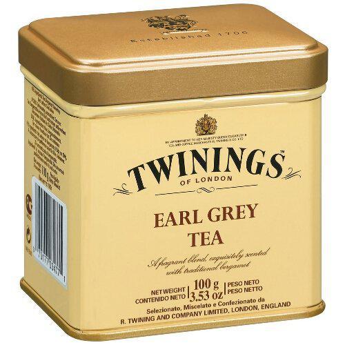 Чай TWININGS Earl Grey серый листовой с бергамотом 100g