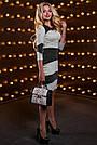 Эффектное женское платье, трикотажное, серый/чёрный, размер 44, 46, 48, 50, фото 3