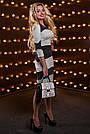 Эффектное женское платье, трикотажное, серый/чёрный, размер 44, 46, 48, 50, фото 4