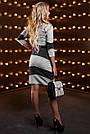 Эффектное женское платье, трикотажное, серый/чёрный, размер 44, 46, 48, 50, фото 5