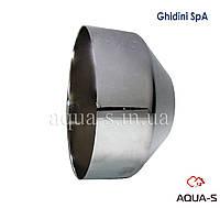 Чашка декоративная Ghidini сантехническая (металл/хром) D 26x100х60 мм.  Италия