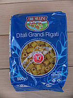 Макароны короткие трубочки, Ditali Grandi Rigati (Tre Mulini) 0,5 кг