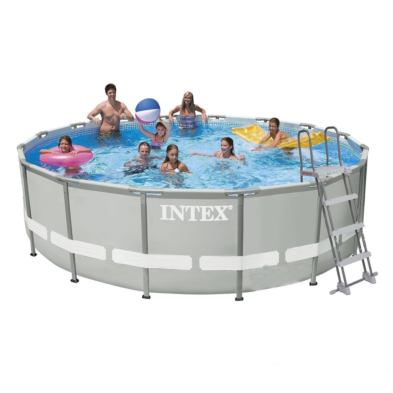 Каркасный бассейн Intex 28322-4. Серия Ultra Frame - 488 x 122 см Басейн круглый