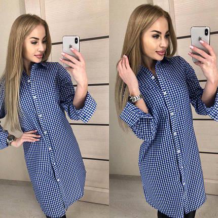 Модная женская длинная рубашка-платье , фото 2