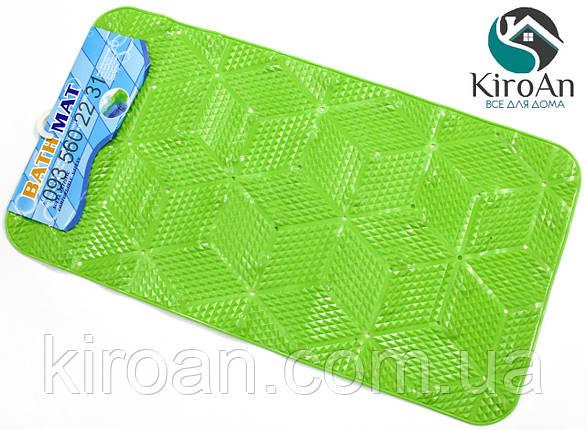 Противоскользящий коврик в ванную на присосках (цвет Салатовый) 7310, фото 2
