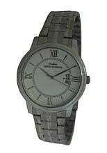 Часы мужские с календарем на браслете, римская цифра.