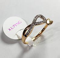 Кольцо Змейка, размер 16, 17, 18, 19  ювелирная бижутерия XP