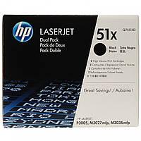 Картридж HP 51X LJ P3005/M3027/M3035 Black (2*13000 стр) Двойная упаковка