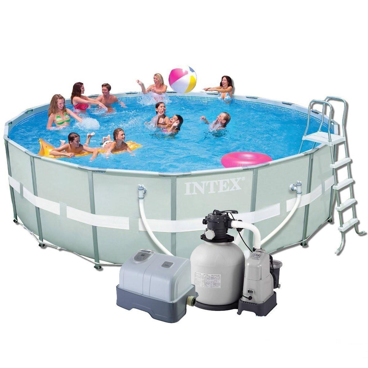 Каркасный бассейн Intex Ultra Frame Pool 549х132 см Басейн круглый