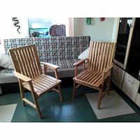 Кресло деревянное для дачи из сосны