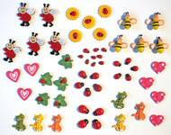 Декоративные Сердечки , бирочки, бабочки, божьи коровки, прищепки и другое