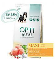 Сухой корм OPTIMEAL (ОПТИМИЛ) для крупных пород- (MAXI ADULT) с курицей (chicken) 4КГ