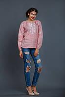 Блуза вышиванка нежно розового цвета