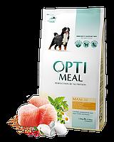 Сухой корм OPTIMEAL (Оптимил) для собак крупных пород с курицей 12КГ