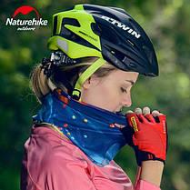 Бафф, багатофункціональний аксесуар NatureHike Magic headscarf blue ring NH17T020-J, фото 3