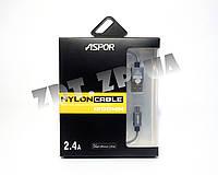 USB кабель Aspor A157 micro 1,2m (2,1A)
