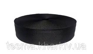 Лента репсовая 40 мм чёрный