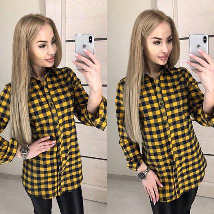 Летняя женская рубашка из хлопка, фото 2