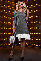 Красивое модное женское платье серое
