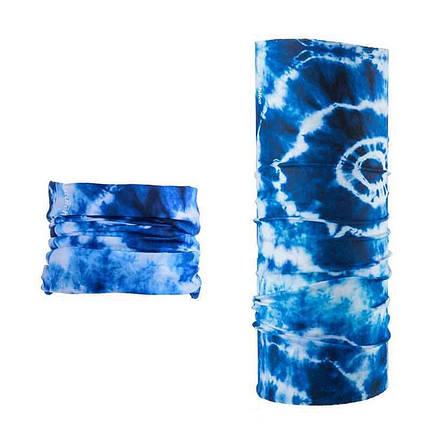 Бафф, багатофункціональний аксесуар NatureHike Magic headscarf blue ring NH17T020-J, фото 2