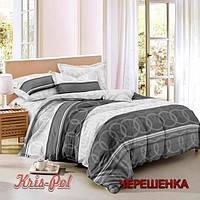 Полуторный набор постельного белья 150*220 из Сатина №255 KRISPOL™