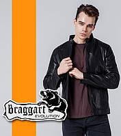 Braggart 1739   Ветровка из искусственной кожи черный
