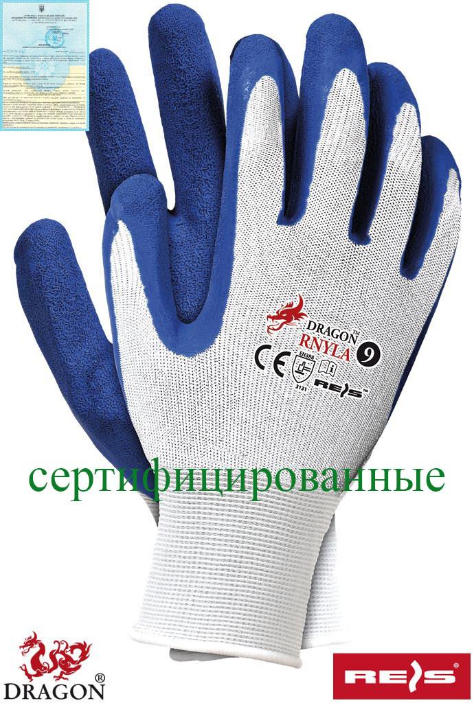 Защитные рукавицы изготовленные из нейлона с дополнительным покрытием из каучука RNYLA WN