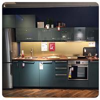 Кухня модульная METOD светло-зеленая