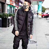 Спортивная мужская стеганая куртка Adidas реплика