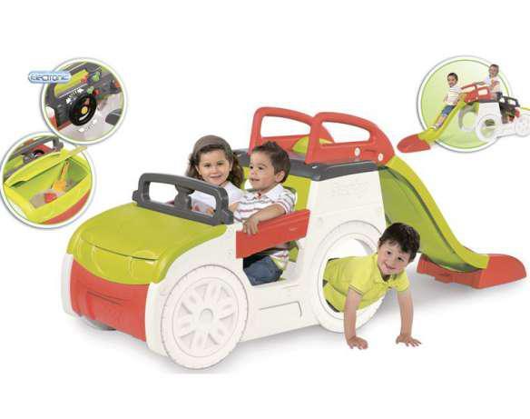 Игровой центр Smoby Автомобиль приключений с горкой, багажником и звуковым эффектом 840200
