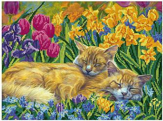 """Схема для частичной зашивки бисером - """"Сон в цветах"""""""