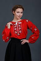 Блуза вышиванка красного цвета, фото 1