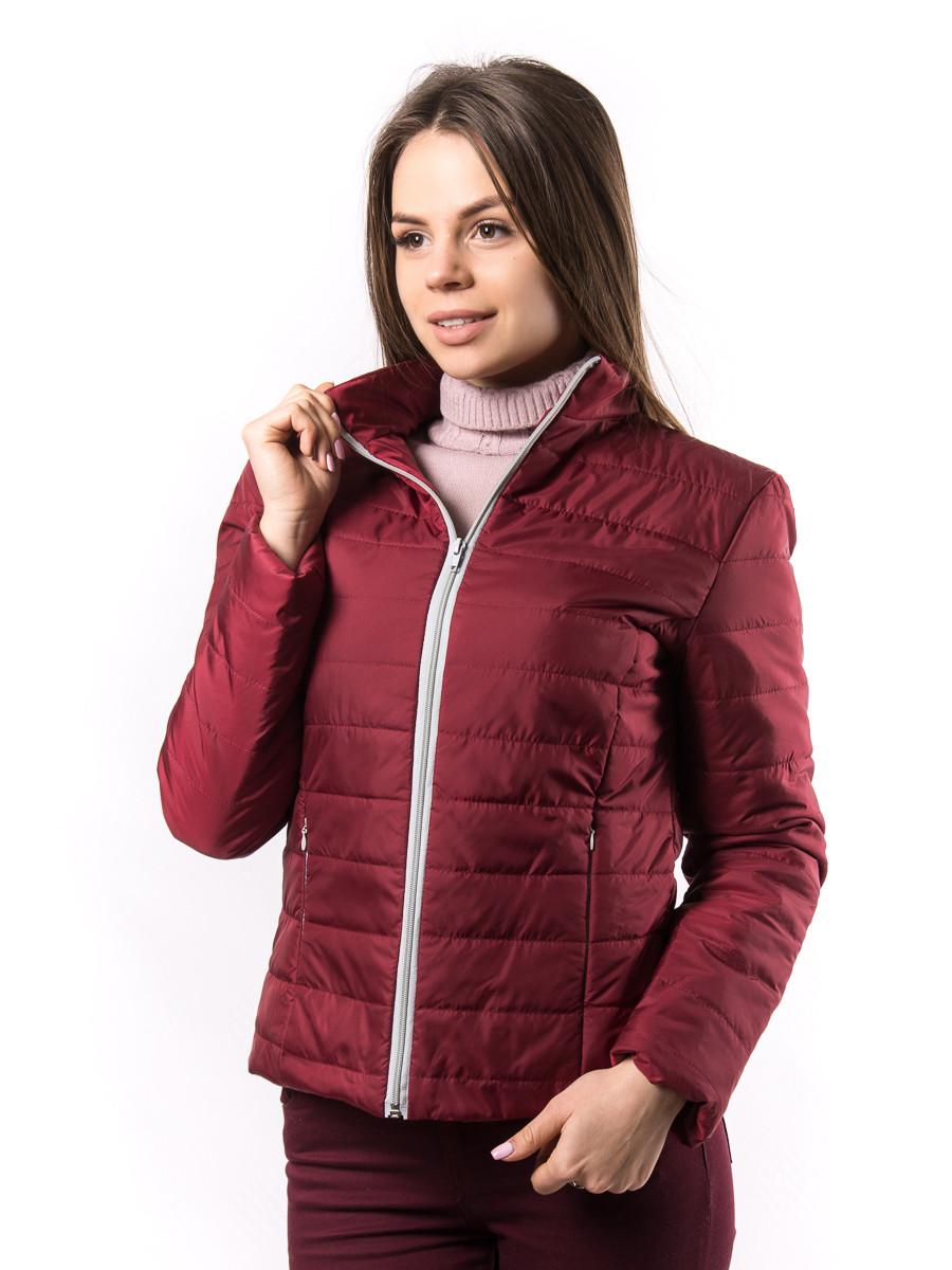 b4b8aed17e8 Женская Вишневая Демисезонная Куртка Украина KD1377 — в Категории ...
