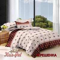 Полуторный набор постельного белья 150*220 из Сатина №291 KRISPOL™