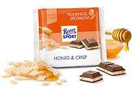 Шоколад Ritter sport HONIG & CRIPS ( с медом и хрустящий) Германия 100 г