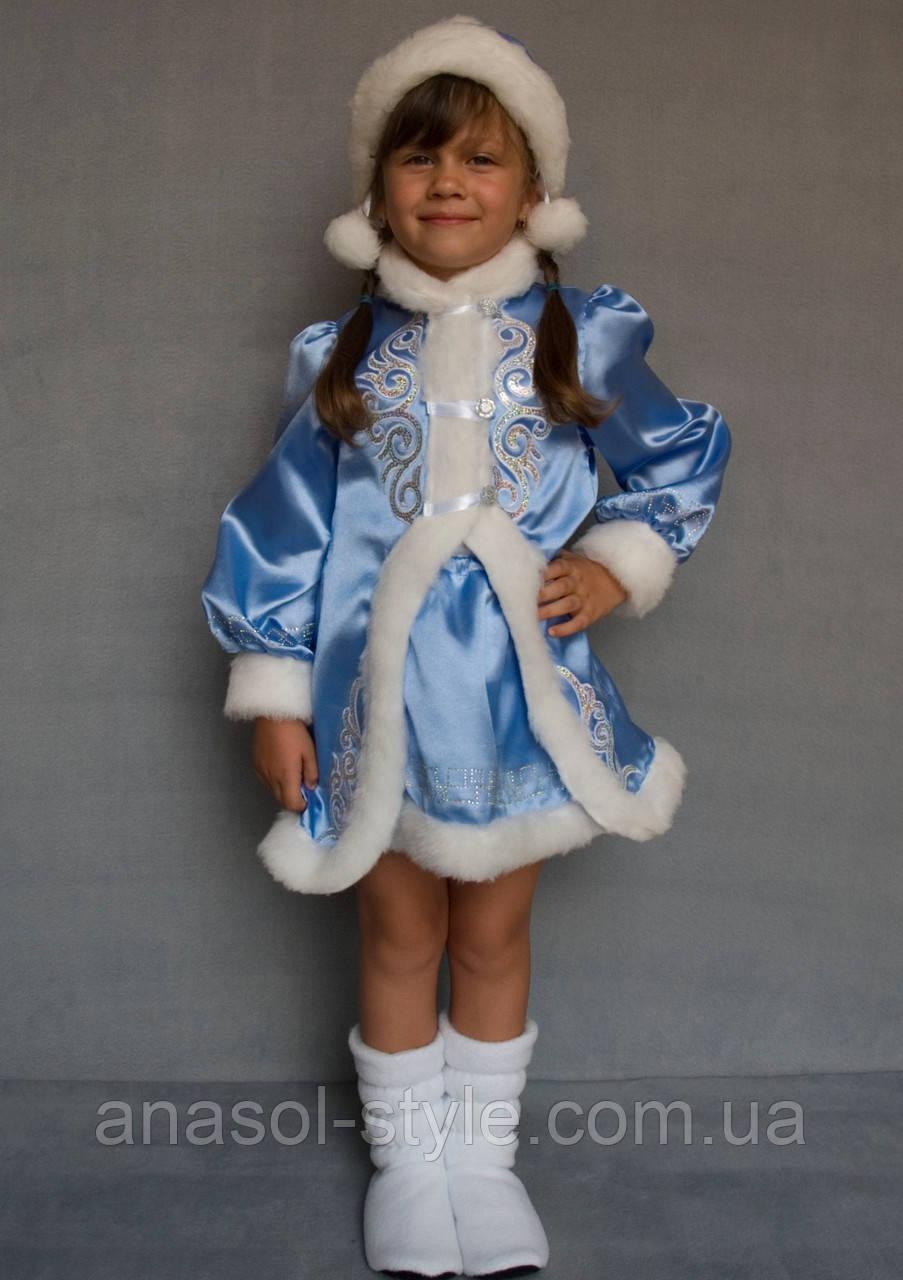 Карнавальный костюм голубой Снегурочка №3