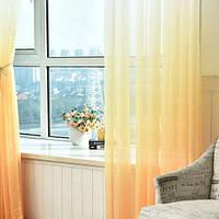 Тюль шифон  Растяжка желтый , высота 2.8м