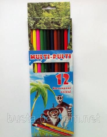 Карандаши цветные MULTI-PULTI 12шт, фото 2