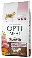 Беззерновой сухой корм OPTIMEAL (ОПТИМИЛ) для собак всех пород- (Grain Free) с индейкой и овощами 10КГ
