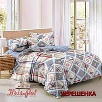 Семейный набор хлопкового постельного белья из Сатина №307 KRISPOL™