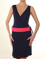 Летнее синее платье на запах Philippe Matignon, р. S/M
