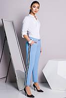 Офисные голубые брюки